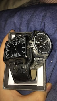 two square and round analog watches 3484 km