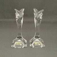 Mikasa Crystal candle stick holders Canton