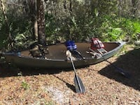 Canoe with accessories