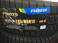 4 winter tires FARROAD brand new 205/65/r16 installation 380  Toronto, M9W 6T5