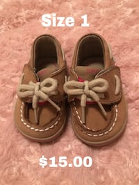 toddler's brown leather boat shoes 1483 mi