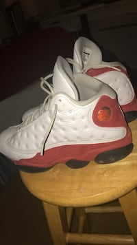 Pair of white-and-red air jordan 13 Silver Spring, 20904