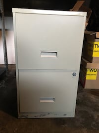 white 2-drawer filing cabinet Brantford, N3T 1N4