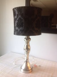 Silver table lamp with black shade Centreville, 20120