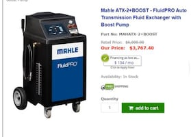 Mahle ATX-2+BOOST - FluidPRO Auto Transmission Fluid Exchange