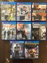 PS4 Games Playstation Games Centreville, 20121