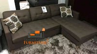 Brand New Brown Linen Sectional Sofa Couch  Arlington, 22206