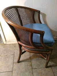 Wicker chair cane back