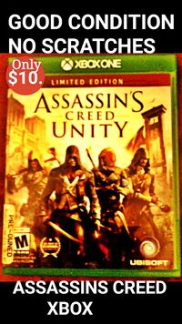 XBOX VIDEO GAME $10. (ASSASSINS CREED UNITY) Pasadena, 91101