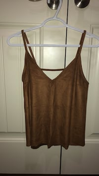 brown suede top  null, T8T 1S2