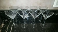 six clear glass footed cups Tysons, 22182