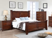 Solid Wood Queen size Bed Toronto