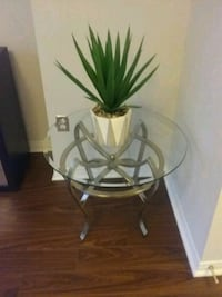 """Round Glass side table,  26"""" round x 21.5"""" tall Toronto, M1P 5H7"""