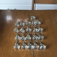 21 Knobs for cabinets missing two screws if your purchased would cost between 6 and 9 dollars each ALEXANDRIA