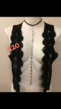 black and gray beaded necklace Winnipeg, R2L 2B8