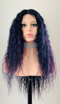 Long Wavy Purple Wig for Everyday or Cosplay