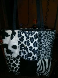 white and black leopard print tote bag Louisville, 40216