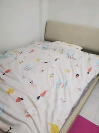 Queensize bed frame with mattress  Singapore
