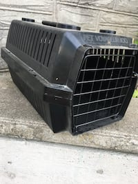 two black plastic pet carriers Wilmot, N0B