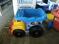 yellow and blue plastic toy truck North Little Rock, 72116