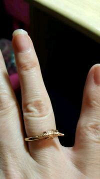 Gold toned Alligator ring Calgary, T2B 0J2
