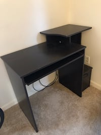 black wooden single pedestal desk Arlington, 22204