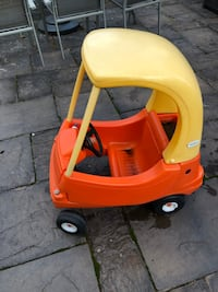 Cozy Coupe Child's Car yellow and red