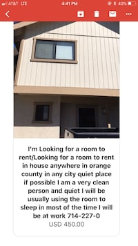 ROOM For rent 1BR Santa Ana