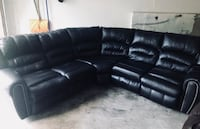 black leather recliner sectional couch Manassas, 20112