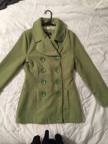 Green peacoat-size Small