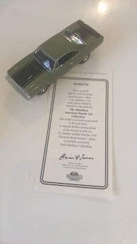 Matchbox collectible Plymouth