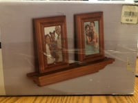 TOGO 3 PIECE SET WOODEN PHOTOFRAME WITH DISPLAY SHELF