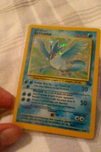 blue and yellow Pokemon trading card Fallbrook, 92028