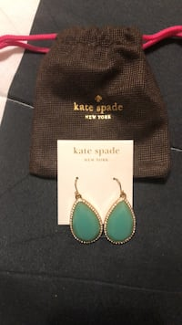 Kate Spade Mint Green and CZ Earrings Mississauga, L4Z 1H7