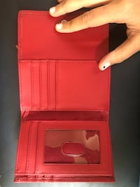 Red leather wallet Arlington, 22207
