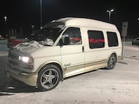 White chevrolet van