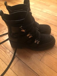 Zara!!!!Pair of black leather boots. Great for fall and light winter days. Rubber under non slip