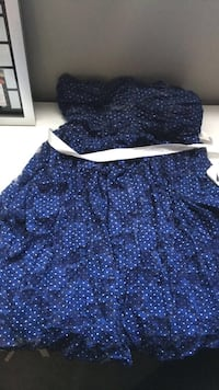 women's blue and white floral dress Calgary, T3K 0J8