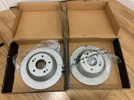Hyundai Santa Fe two rear brake rotors