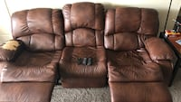 brown leather 3-seat recliner sofa Kennesaw, 30144