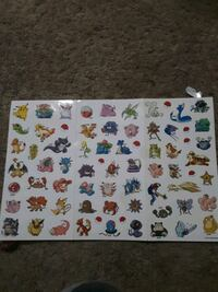 Super  rare pokemon Nintendo stickers