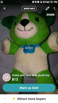 green and white bear plush toy screenshot Charlotte, 28208
