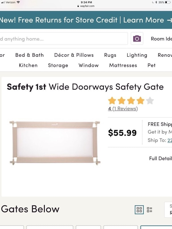 Safety First mesh baby safety gate