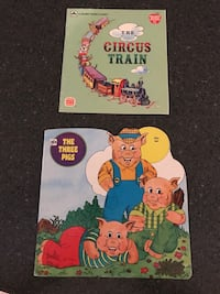 Vintage The Three Pigs & The Circus Train Children's Books