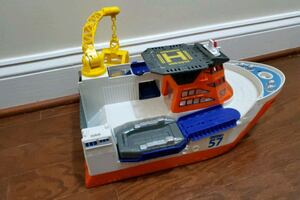 Matchbox cars carrier boat with floating raft