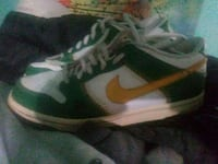 pair of white-and-green Nike mid-top sneakers Eugene, 97405