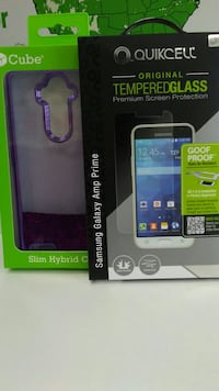 two phone case and tempered glass boxes