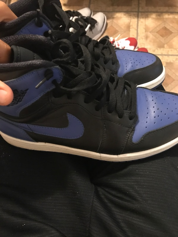 46f1985180b752 Used Pair of blue-and-black air jordan 1 for sale in New York - letgo