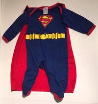 Baby Size 0-6 Months Superman Costume Outfit