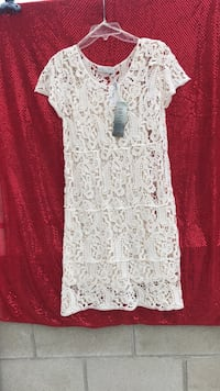Dress off white color brand new size L Los Angeles, 91601